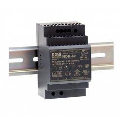 HDR-60-24 MeanWell HDR-60-24 - Alimentatore Meanwell - Din Rail 60W 24V - Input 100-240 VAC Alimentatori Guida DIN