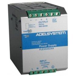 FLEX50024A Adelsystem FLEX50024A - Alimentatore Adelsystem - Din Rail 600W 24V - Input 110/220 VAC Alimentatori Automazione