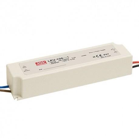 LPV-100-24 MeanWell LPV-100-24 Alimentatore LED MeanWell - CV - 100W / 24V Alimentatori LED