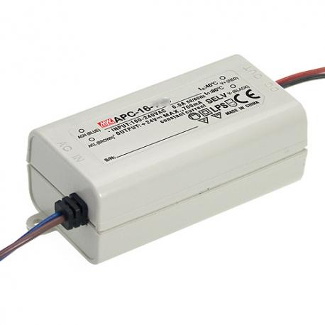 APC-16-350 MeanWell APC-16-350 - Alimentatore LED MeanWell - CC - 16W / 350mA Alimentatori LED