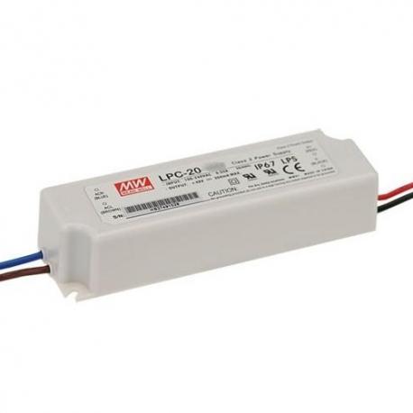 LPC-20-350 MeanWell LPC-20-350 - Alimentatore LED MeanWell - CC - 16W / 350mA Alimentatori LED