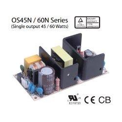 OS45N-5 Glacial Power OS45N-5 - Alimentatore Glacial - Open F. 45W 5V - Input 100-240 VAC Alimentatori Automazione