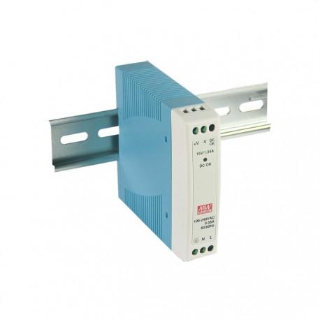 MDR-10-5 MeanWell MDR-10-5 - Alimentatore Meanwell - Din Rail 10W 5V - Input 100-240 VAC Alimentatori Automazione