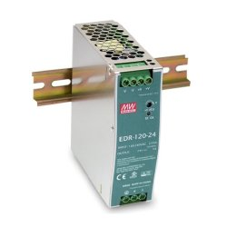 EDR-120-24 MeanWell EDR-120-24 - Alimentatore Meanwell - Din Rail 120W 24V - Input 100-240 VAC Alimentatori Automazione