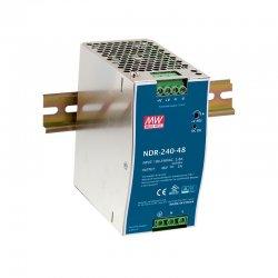 NDR-240-24 MeanWell NDR-240-24 - Alimentatore Meanwell - Din Rail 240W 24V - Input 100-240 VAC Alimentatori Guida DIN