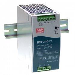 SDR-240-48 MeanWell SDR-240-48 - Alimentatore Meanwell - Din Rail 240W 48V - Input 100-240 VAC Alimentatori Automazione