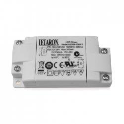 AED08-250ILS Letaron AED08-250ILS - Alimentatore LED Letaron - CC - 8W / 250 mA - CV 8W / 36V Alimentatori LED