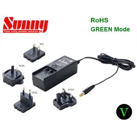 SYS1003-3612-W2E Sunny SYS1003-3612-W2E - Alimentatore Sunny - Wallmount 36W 12V - Input 100-240 VAC Alimentatori Wallmount