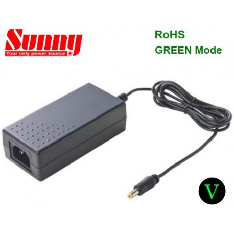 SYS1443-6512-T3/5525 Sunny SYS1443-6512-T3/5525 - Alimentatore Sunny - Desktop 65W 12V - Input 100-240 VAC Alimentatori De...