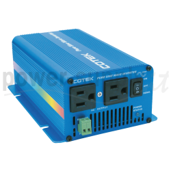 S150-124 Cotek Electronic S150-124 - Inverter Cotek 150W - In 24V Out 110 VAC Onda Sinusoidale Pura Inverters