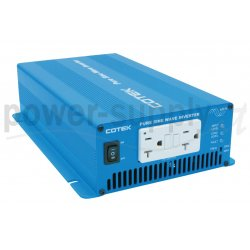 S600-124 Cotek Electronic S600-124 - Inverter Cotek 600W - In 24V Out 110 VAC Onda Sinusoidale Pura Inverters