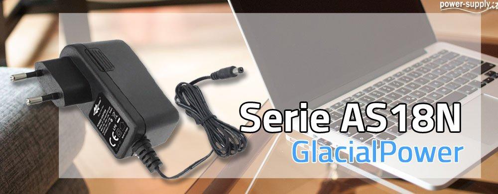 Nuova Serie di Alimentatori LED AS18N GlacialPower a Muro a 18W