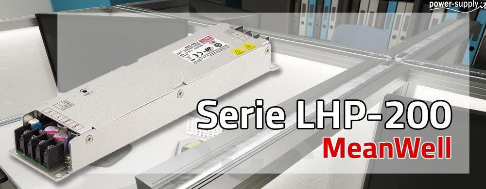 Nuovo Alimentatore compatto LHP-200 di MeanWell ad alta efficienza